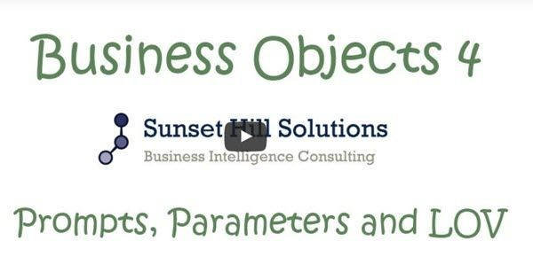 business objects tutorial